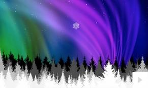 Aurora Borealis ecard