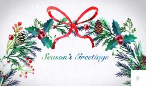 Watercolor Wreath ecard