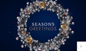 Glimmering Wreath ecard