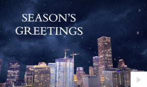 Downtown city lights Holiday e-card thumbnail