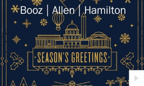 Booz Allen Hamilton Christmas Holiday e-card thumbnail