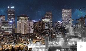 Snowflake Reveal cities holiday e-card thumbnail