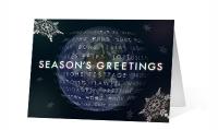 A World Turning corporate holiday print card thumbnail