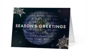 A World Turning corporate holiday print card thumbnail