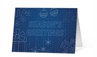 Holiday Blueprint corporate holiday print card thumbnail