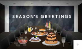 Company Holiday Party corporate holiday ecard thumbnail