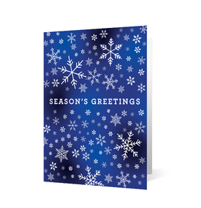 Snowflake Unity Christmas Holiday Greeting Card