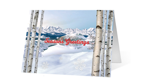 Grandeur Greetings Christmas Holiday Greeting Card
