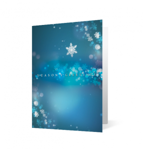 Snowflake Swirl Christmas Holiday Greeting Card