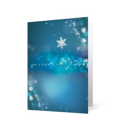 Snowflake Swirl Christmas Holiday Greeting Card
