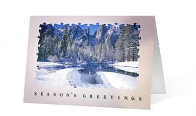 Holiday Puzzle Christmas Holiday Greeting Card
