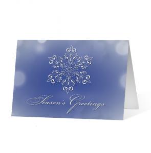 Snowflake Eloquence Christmas Holiday Greeting Card