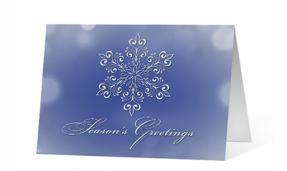 Snowflake Eloquence Season's Greetings Card