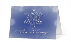Snowflake Eloquence Season's Greetings Card