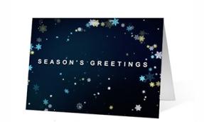 Snowflake Symphony Christmas Greeting Card