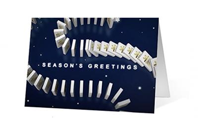 Holiday Dominoes Christmas Greeting Card