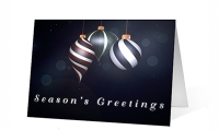Elegant Ornaments Christmas Greeting Card