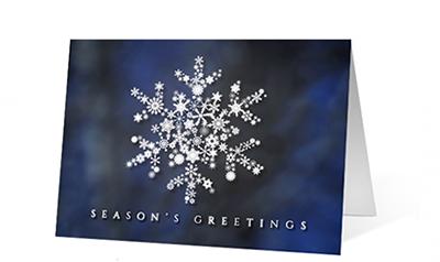 Snowflake Crystal Light Holiday Greeting Card
