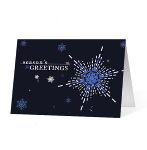 Festive Spirit Snowflake Christmas Greeting Card