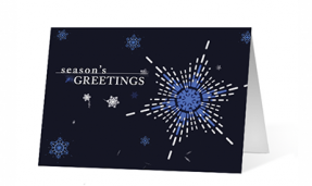 Snowflake Festive Spirit Christmas Greeting Card