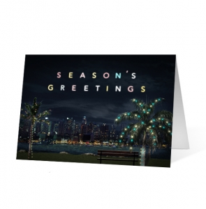 Palm Tree Wishes Christmas Greeting Card