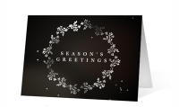 Shimmering Snowflake Wishes Christmas Greeting Card