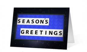Holiday Game Christmas Greeting Card