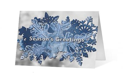 Snowflake Reveal Christmas Greeting Card