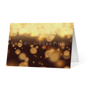 Warm Light Wishes Christmas Greeting Card