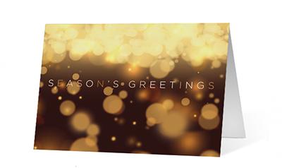 Warm Lights Wishes Christmas Greeting Card