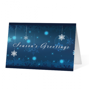 Winter Snowflake Carousel Version 2 Greeting Card
