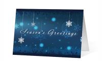 Winter Snowflake Carousel Version 2 Greeting Card