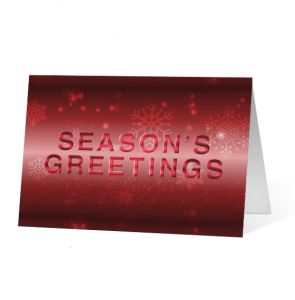 Red Colourful Sentiments Version 1 Greeting Cards