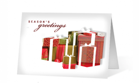 Seasonal Gift Pause Christmas Greeting Card