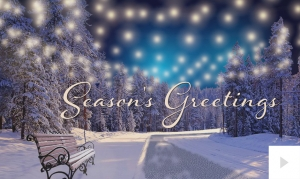 luminous holiday Seaon's Greetings e-card thumbnail