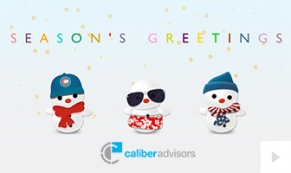 caliber advisors Company Holiday e-card thumbnail
