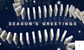 Holiday Dominos corporate holiday ecard thumbnail