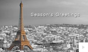 Colorful Landmarks christmas Holiday e-card thumbnail