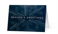 Linguistic Snowflake Greeting Card