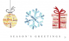 Present words Christmas e-card