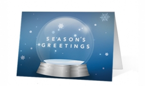Swirling Wishes Christmas Print Card