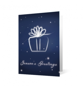 Holiday Flourish Christmas Print Card