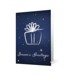 Holiday Flourish Christmas Print Card
