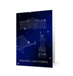 Monuments Christmas Print Card