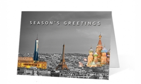 Landmark Colors Christmas Print Card