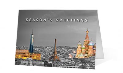 Landmark Colors Christmas Print Card