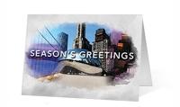 Watercolor Scenes Christmas Print Card