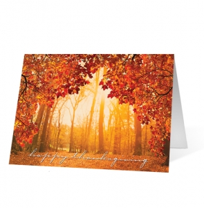 Thankful Moment Print Christmas Card