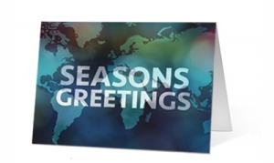 Salutations Print Christmas Card