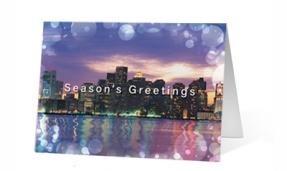 Metropolitan Lights Print Christmas Card
